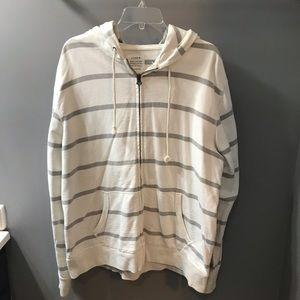 Men's J Crew cream/grey zip up hoodie 🏔